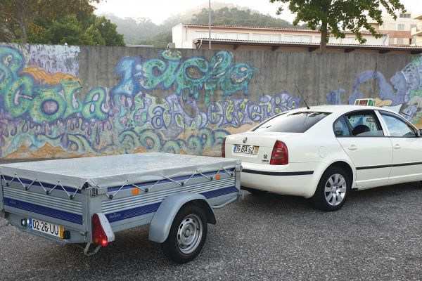 cargo transportation in taxis with a trailer trailer